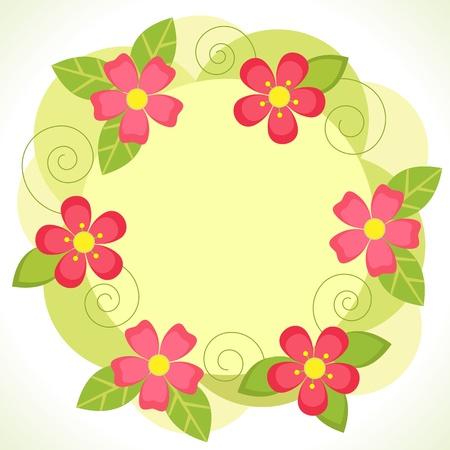 Vector floral frame Vector