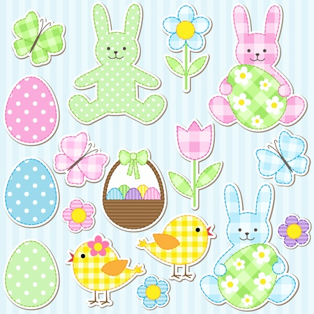Easter set of vector elements Vector