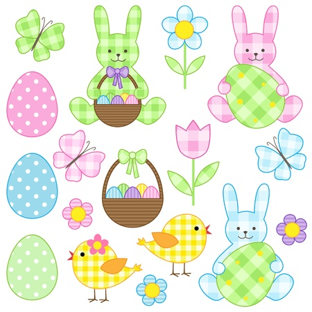 Easter set of vector elements
