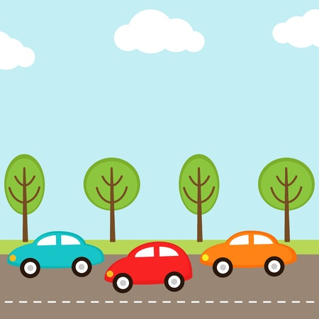 background with cars on the road