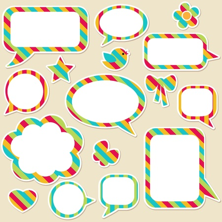 Set of speech bubbles and different elements Vector