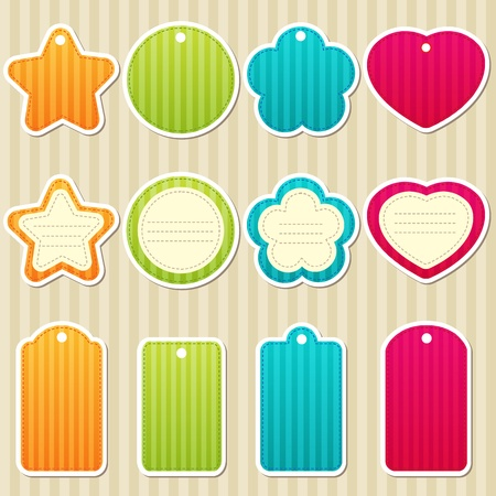 set of tags and frames Vector