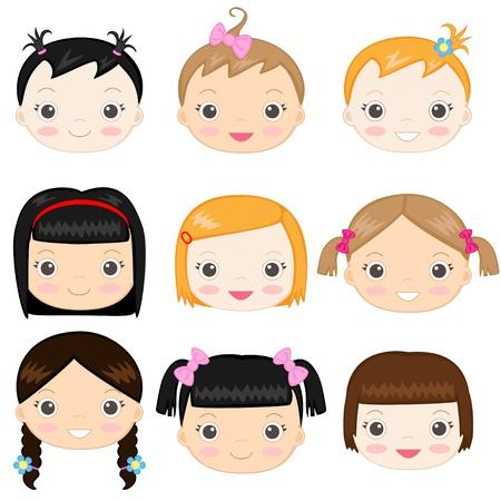 Happy Baby Mädchen Illustration