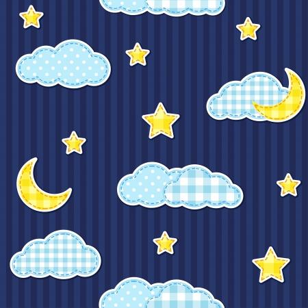 Night sky seamless pattern
