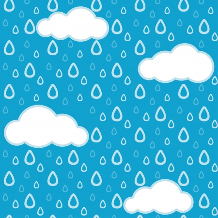 Seamless rain background Vector
