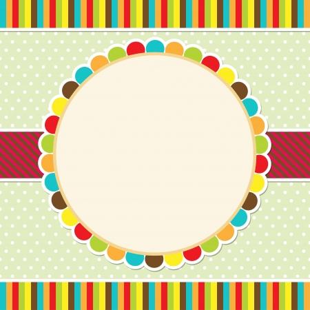 cartoon frame: Card design colorato