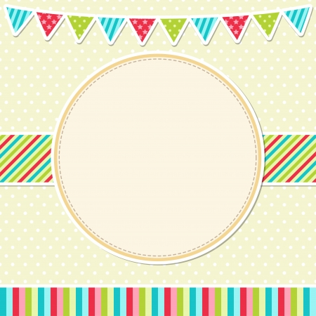 Birthday card with garland Vector