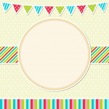 Birthday card with garland Illustration