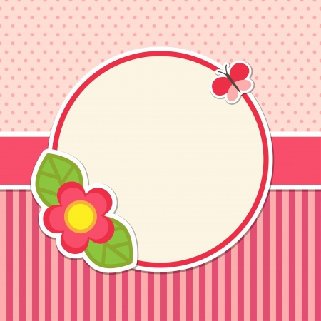 Frame with flower and butterfly