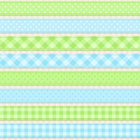 Ribbons Seamless vector ribbons and borders Vector