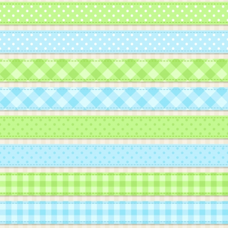 gingham: Ribbons Seamless vector ribbons and borders