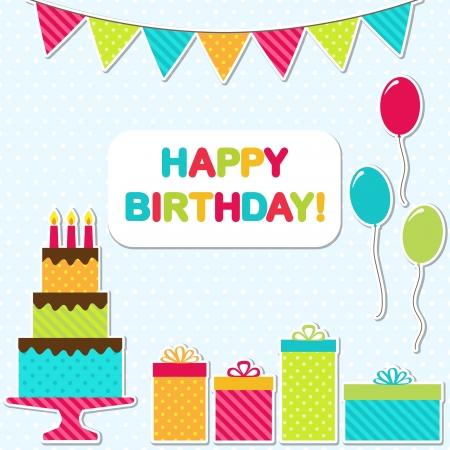 Vector birthday party card Illustration