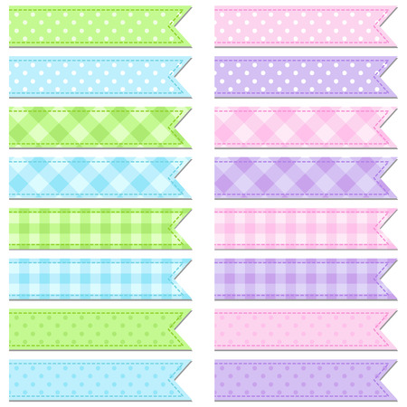 tapes: Vector collection of cute and bright tape stripes Stock Photo