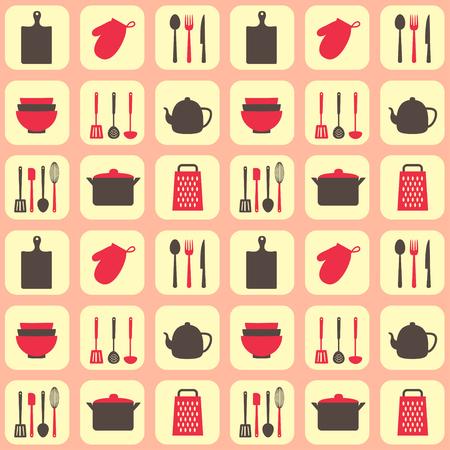 kitchen tools: Kitchen tools seamless pattern