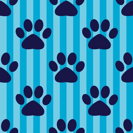 Naadloos vectorpatroon met dierlijke voetafdrukken