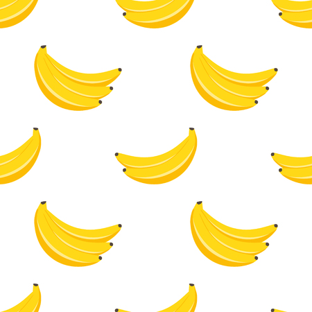 Seamless vector pattern with yellow bananas