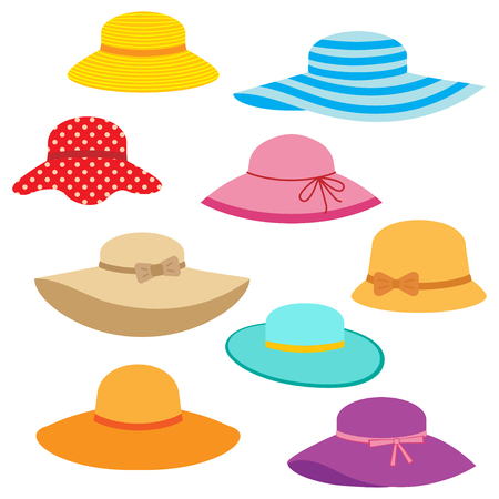 Collection of womens summer hats