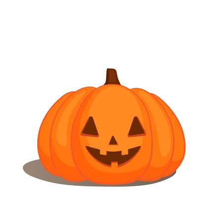 Cute vector halloween pumpkins on white background