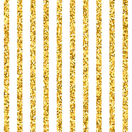 Seamless pattern of gold vertical stripes. Vector texture with golden lines for invitation, card, wedding, holiday background Ilustração
