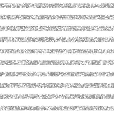 Seamless pattern of silver stripes. Vector texture with sparkle lines for invitation, card, wedding, holiday background