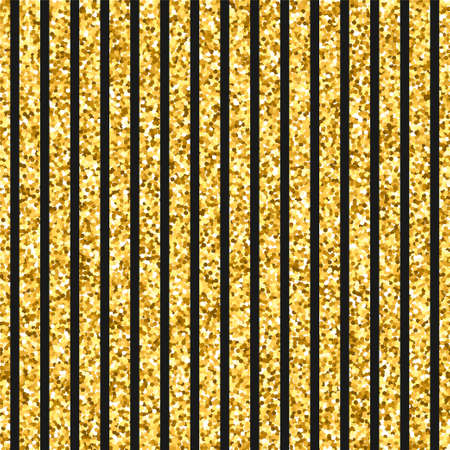 Seamless pattern of gold stripes. Vector texture with golden lines for invitation, card, wedding, holiday background