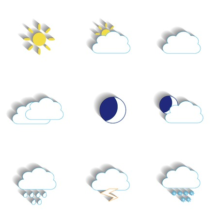 torrential: Set of weather icons for your design