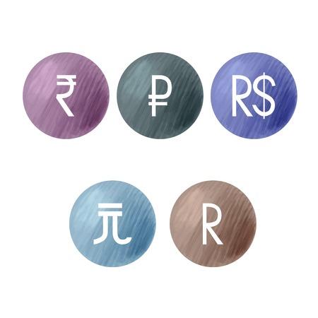 Currencies symbols.