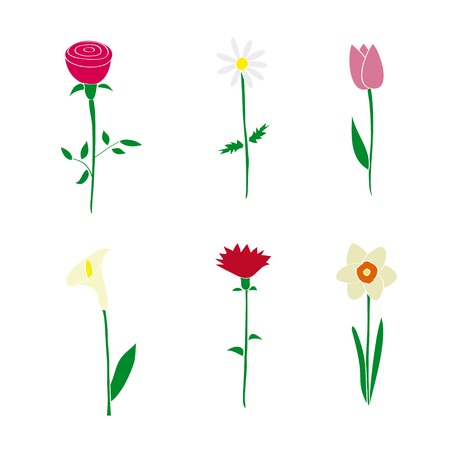 Flower icons.  Vector