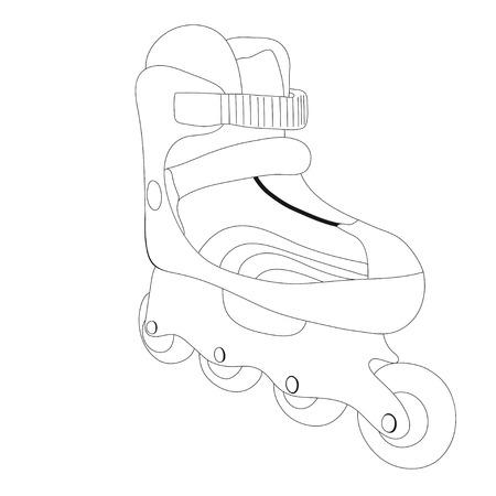 Vector illustration of roller skates  Vector