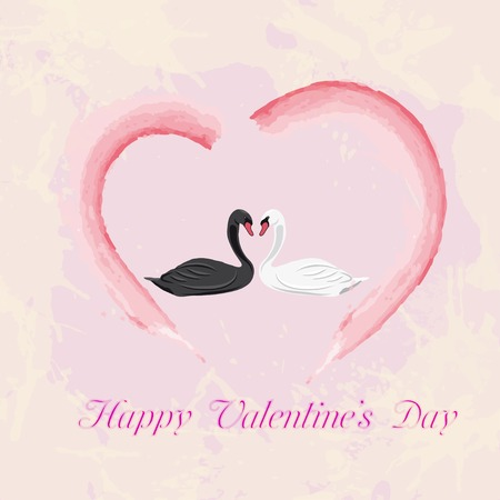 Beautiful card for Valentines Day. Vector