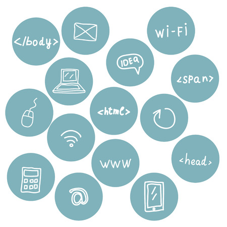 Stock set of web icons Vector