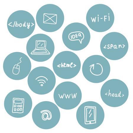 e ink: Stock set of web icons