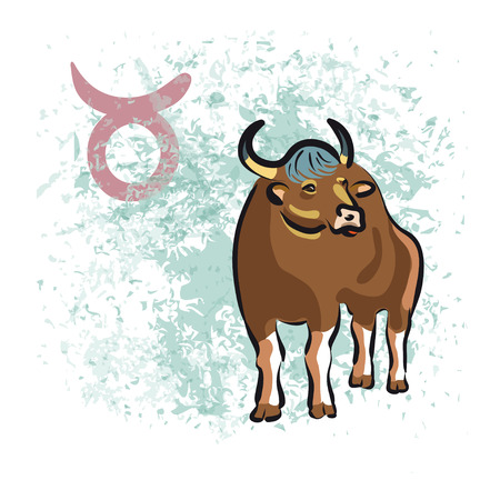 taurus sign: Taurus sign of the Zodiac. Hand-drawn vector illustration Illustration