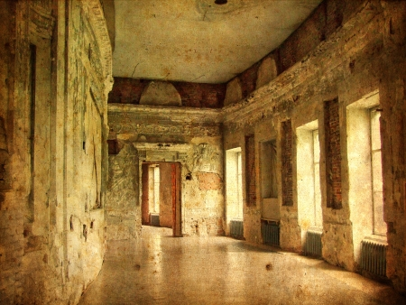 ramshackle: Interior of an old Palace  Ruines of a castle