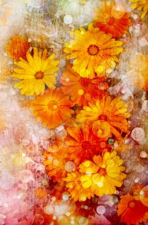 Flower backgrond , spring bloom Stock Photo