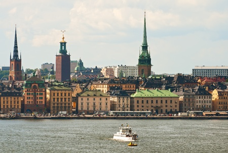 The central part of Stockholm in a sunny day