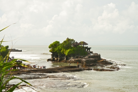 The temple on water Tanah Lot is attraction of the island Bali