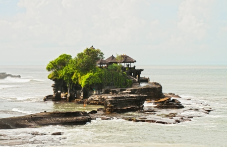 The Hindu temple on water Tanah Lot - attraction of the island of Bali photo