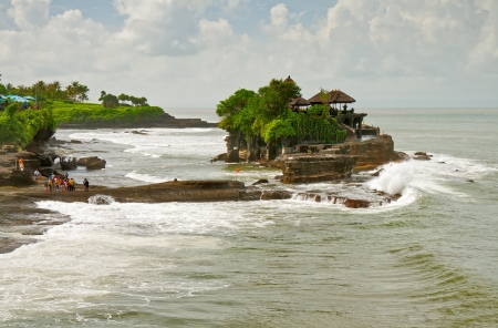The Hindu temple on the water Tanah Lot  photo