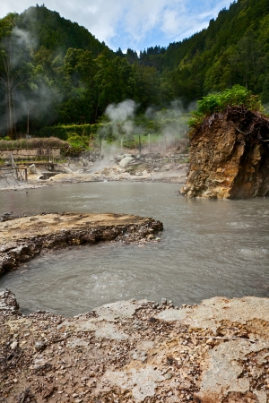 Geothermal on the island of Sao Miguel, Azores Stock Photo - 17897130