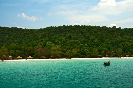 Coast of island Koh Rong Samloem, Cambodia