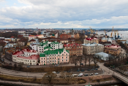 vyborg: Top view on the Old Town Vyborg