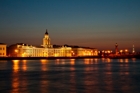 White night in Saint-Petersburg, city landscape photo