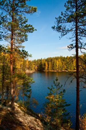 Autumn in the Repovesi  Finland, South Karelia  photo