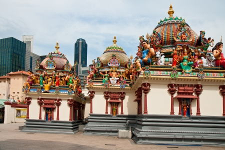 mariamman: Hinduistic temple Shri-Mariamman  Chinatown, Singapore