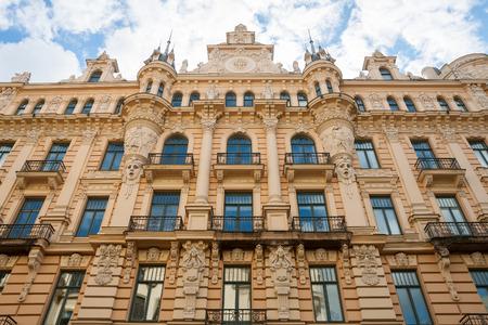 Art nouveau district in Riga, Latvia