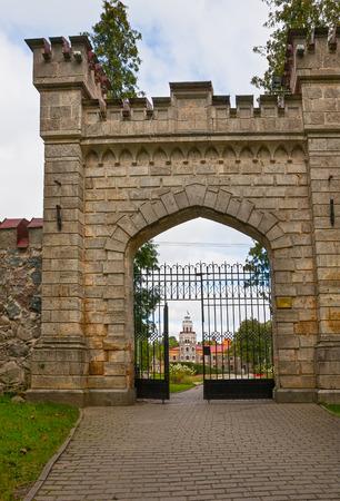 sigulda: The gates of the new Sigulda castle, Latvia