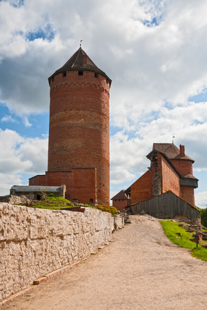 gauja: Old Turaida castle in Sigulda Editorial