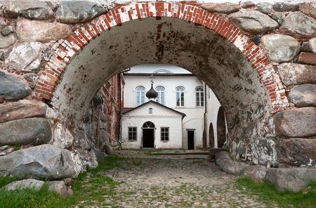 herman: The Church of St. Herman of Solovki in the Solovetsky monastery Stock Photo