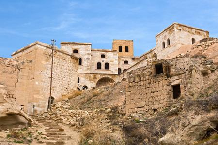 deserted: Deserted cave town in Cavusin, Cappadocia, Turkey